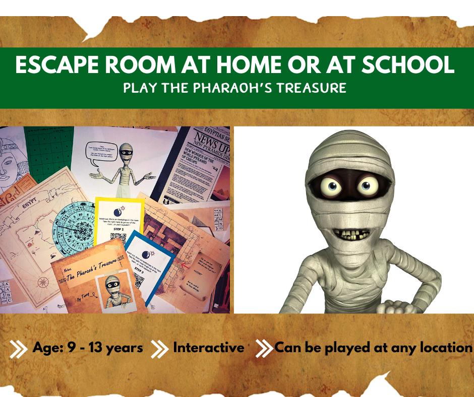 Escape Room at home - The Pharaoh's Treasure