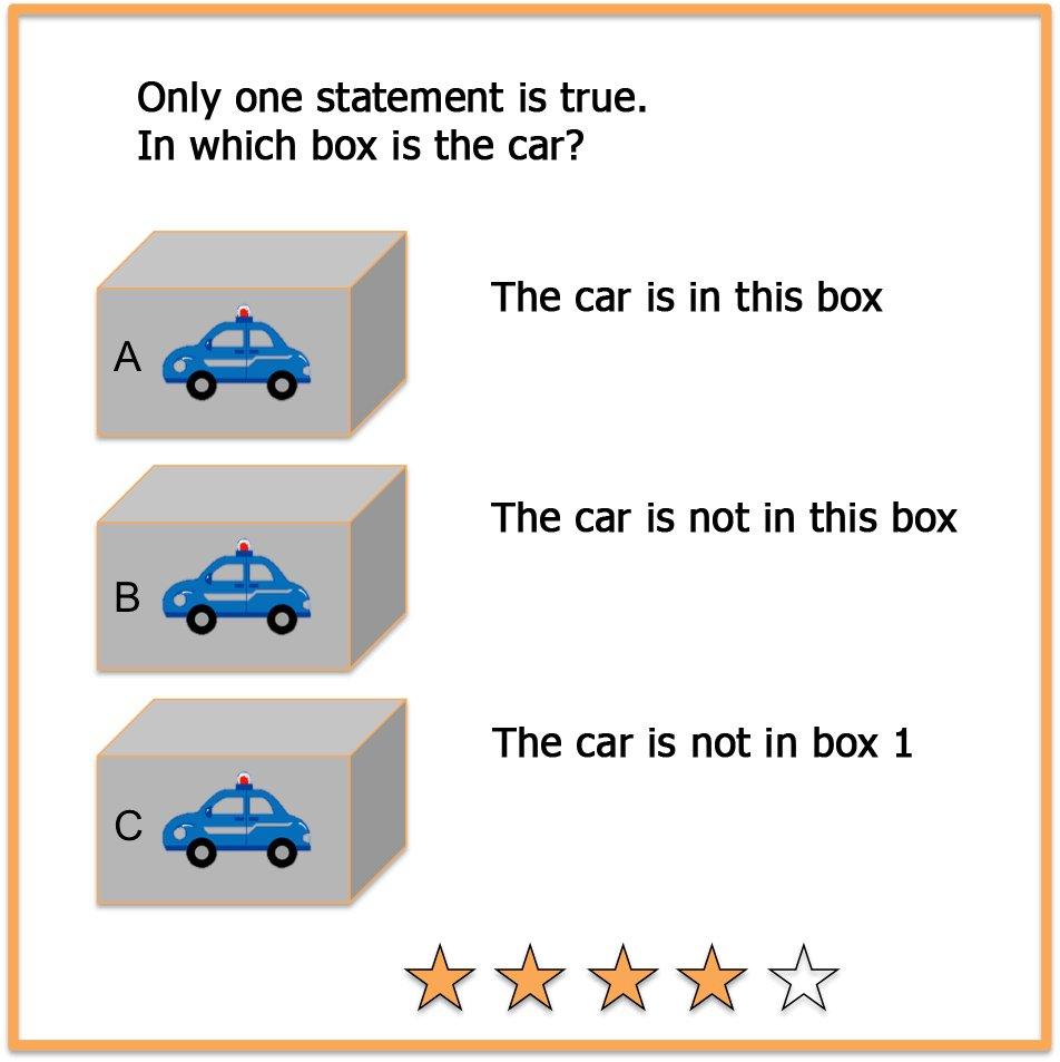 Mind riddle car in box
