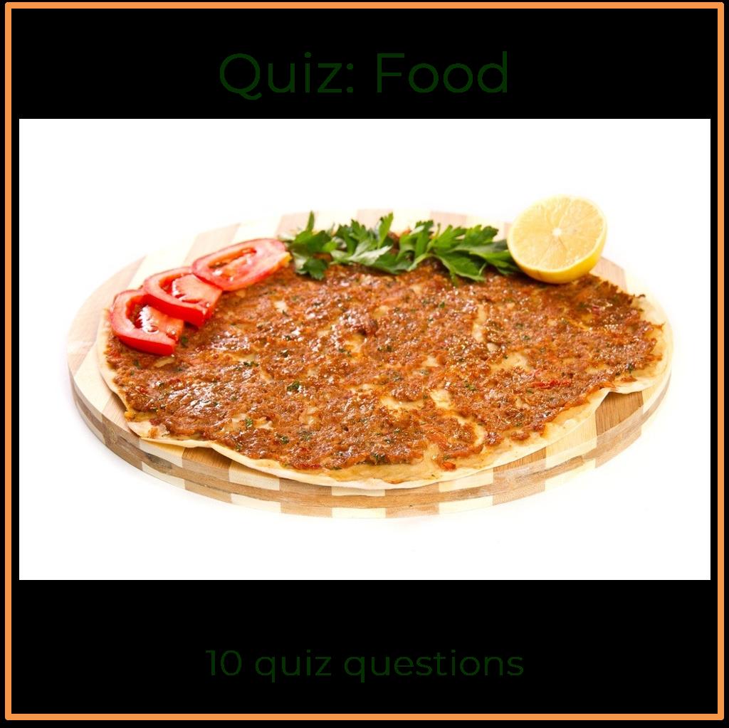 General knowledge quiz food