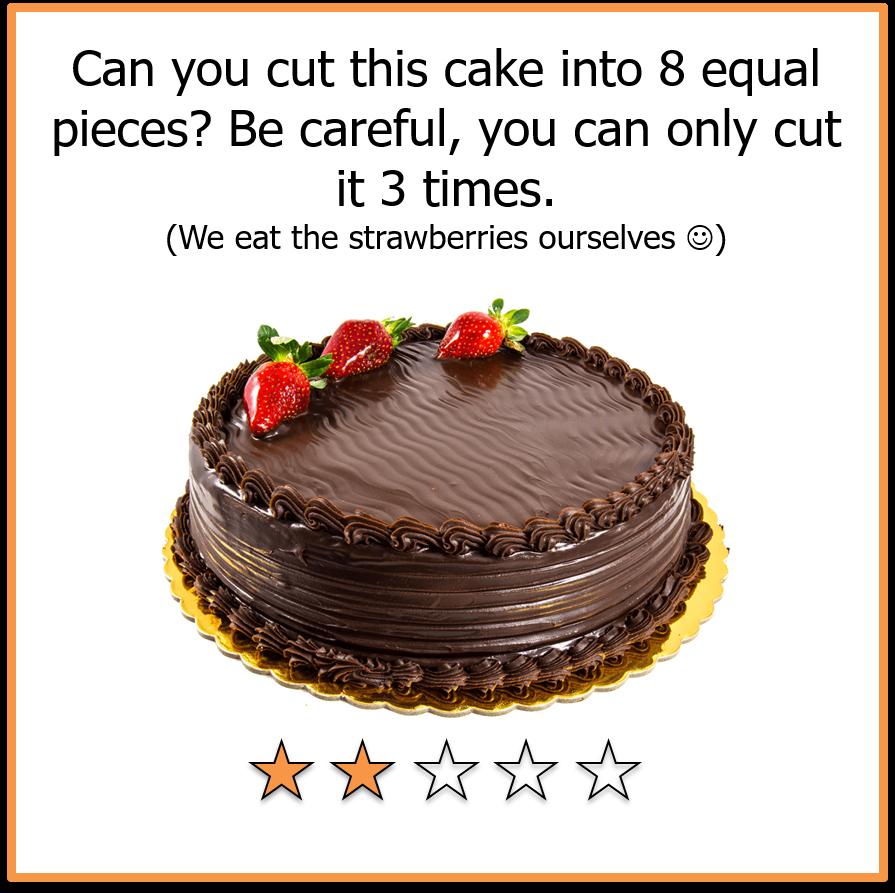 Brain teaser cake