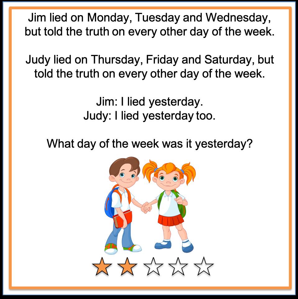 Riddle Jim lied